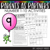 Distance Learning - Numbers 1-10 Activities Guide for Parents