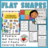 FLAT SHAPES BUNDLE – Posters, Photo Cards, Sorting Mat, Coloring, Cut & Paste