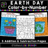 Addition and Subtraction Coloring Pages || Earth Day Math || Distance Learning