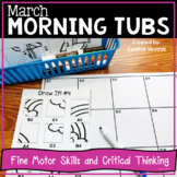 March Morning Tubs for Fine Motor and Critical Thinking