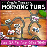 Morning Tubs for Fourth Grade | January | Hands on Activities