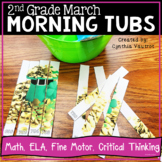 Morning Tubs for Second Grade | March Morning Tubs