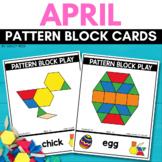PATTERN BLOCK EASTER Task Cards for APRIL