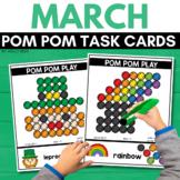POM POM ST. PATRICK'S DAY Task Cards for MARCH STEM