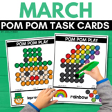 POM POM ST. PATRICK'S DAY Task Cards for MARCH STEM