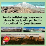 Spain Panoramic Headers for Google Classroom  Distance Learning