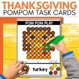 POM POM THANKSGIVING Task Cards for November STEM