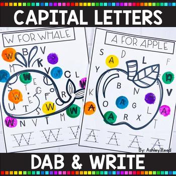 ALPHABET PRINTABLES   Capital Letter Dab & Write