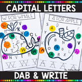 ALPHABET PRINTABLES | Capital Letter Dab & Write