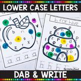 ALPHABET PRINTABLES | Lower Case Letter Dab & Write