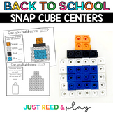 BACK TO SCHOOL THEMED Snap Cube Math Centers