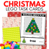 BUILDING BRICK LEGO CHRISTMAS Task Cards