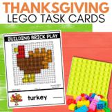 BUILDING BRICK LEGO THANKSGIVING Task Cards for November STEM