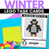 BUILDING BRICK LEGO WINTER Task Cards