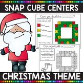 CHRISTMAS THEMED Snap Cube Math Centers