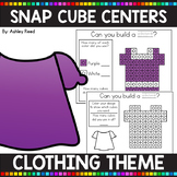 CLOTHING THEMED Snap Cube Math Centers