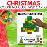 COUNTING CUBE CHRISTMAS Task Cards for December