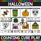 COUNTING CUBE HALLOWEEN Task Cards for Fine Motor
