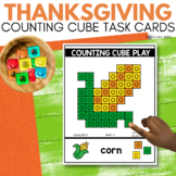 COUNTING CUBE THANKSGIVING Task Cards for November STEM