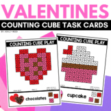 COUNTING CUBE VALENTINES Task Cards for February