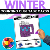 COUNTING CUBE WINTER Task Cards for December