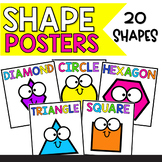 Colorful 2D Shape Posters