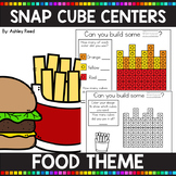 FOOD THEMED Snap Cube Math Centers