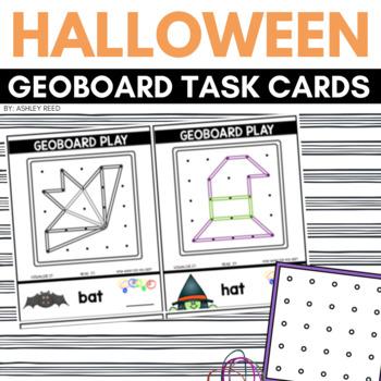 GEOBOARD HALLOWEEN Task Cards