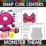 MONSTER THEMED Snap Cube Math Centers
