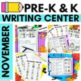 NOVEMBER Writing Center for Pre-K and K   Thanksgiving