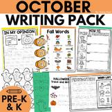 October Writing Center for Pre-K and Kindergarten | Halloween
