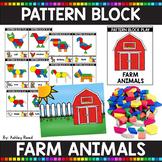 PATTERN BLOCK FARM ANIMAL Task Cards