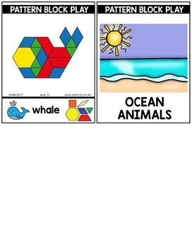 PATTERN BLOCK OCEAN ANIMAL Task Cards