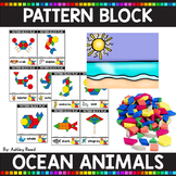 PATTERN BLOCK OCEAN ANIMAL Task Cards
