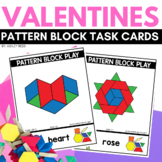 PATTERN BLOCK VALENTINES Task Cards for FEBRUARY