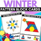 PATTERN BLOCK WINTER Task Cards