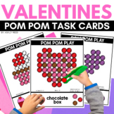 POM POM VALENTINES Task Cards for FEBRUARY