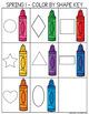 Preschool COLOR BY SHAPE Printables for Spring