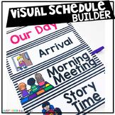 Visual Schedule Cards for Preschool or Kindergarten