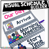 Visual Schedule Cards for Preschool or Kindergarten