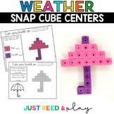WEATHER THEMED Snap Cube Math Centers