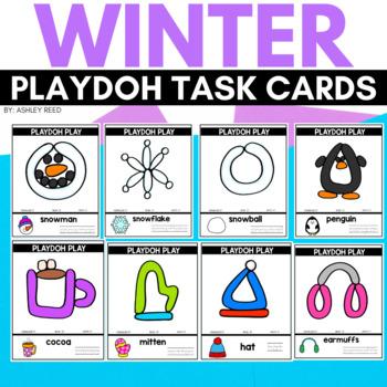 WINTER Playdoh Mats for Preschool or Kindergarten