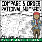 Compare and Order Rational Numbers Activity   Mistory Lib   Distance Learning