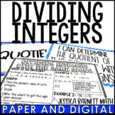 Dividing Integers Posters