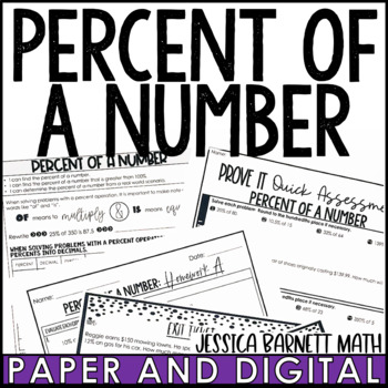 Percent of a Number Notes and Such