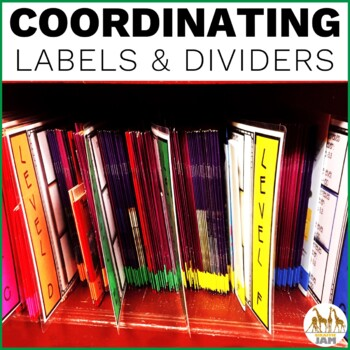 Classroom Library Labels using Guided Reading Levels