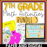 7th Grade Math Activities Bundle 3 | Distance Learning | D