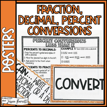 Fraction, Decimal, and Percent Conversions Posters