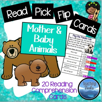 Reading Comprehension Passages Clothespin Activity: Baby A