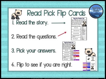 Baby Animals and Mother Clip Cards: Reading Comprehension Passages and Questions